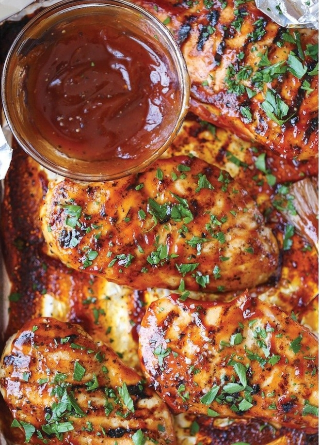 Easy cook, tasty, healthy Grilled Chicken with home made Barbeque Sause.